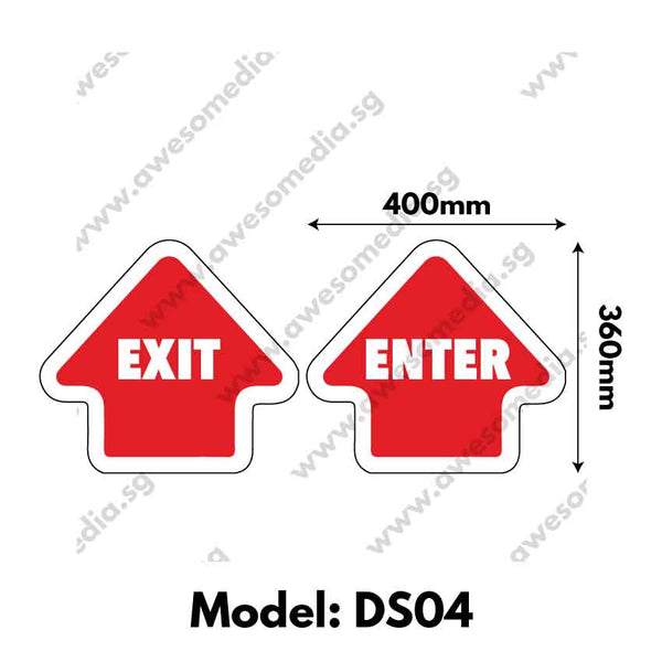 DS04 - Directional Sign Floor Sticker [SG Ready Stock] - Awesomedia Pte Ltd