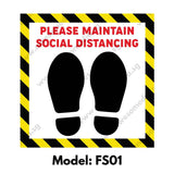 FS01 - Social Distancing Floor Sticker [SG Ready Stock] - Awesomedia Pte Ltd