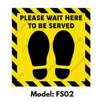 FS02 - Social Distancing Floor Sticker [SG Ready Stock] - Awesomedia Pte Ltd