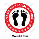 FS06 - Social Distancing Floor Sticker [SG Ready Stock] - Awesomedia Pte Ltd