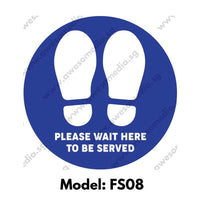 FS08 - Social Distancing Floor Sticker [SG Ready Stock] - Awesomedia Pte Ltd