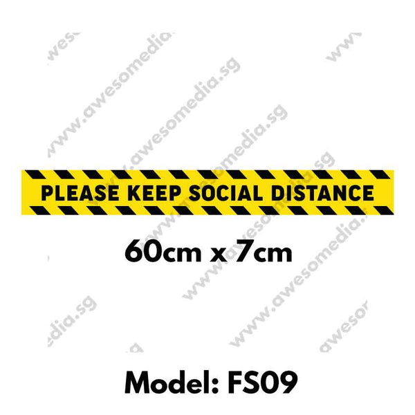 FS09 - Social Distancing Floor Sticker [SG Ready Stock] - Awesomedia Pte Ltd