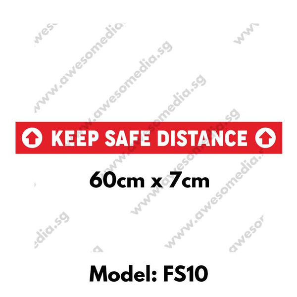 FS10 - Social Distancing Floor Sticker [SG Ready Stock] - Awesomedia Pte Ltd