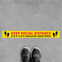 FS11-B - Social Distancing Floor Sticker [SG Ready Stock] - Awesomedia Pte Ltd
