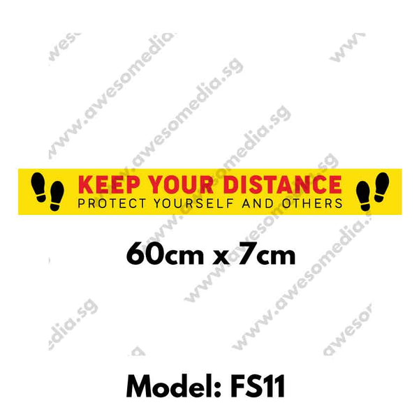 FS11 - Social Distancing Floor Sticker [SG Ready Stock] - Awesomedia Pte Ltd