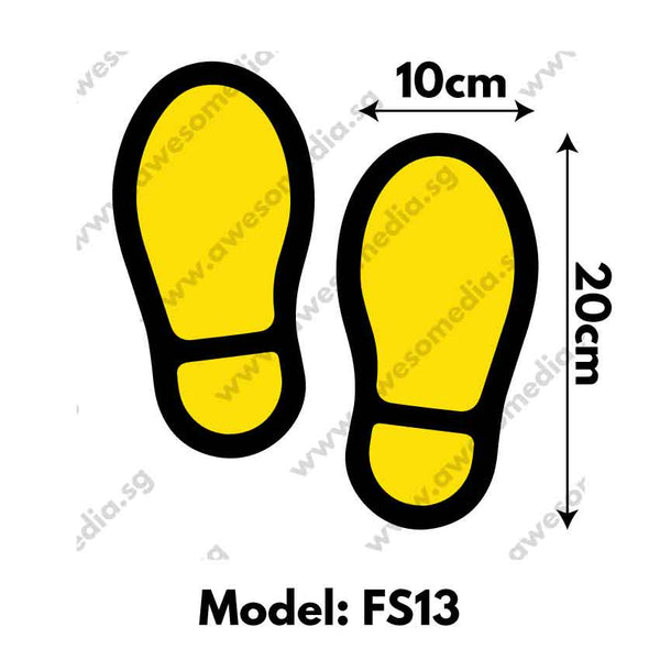 FS13 - Foot Step Social Distancing Floor Sticker [SG Ready Stock] - Awesomedia Pte Ltd