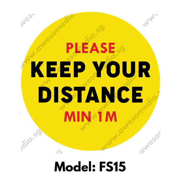 FS15 - Social Distancing Floor Sticker [SG Ready Stock] - Awesomedia Pte Ltd