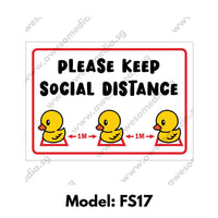FS17 - Social Distancing Floor Sticker [SG Ready Stock] - Awesomedia Pte Ltd