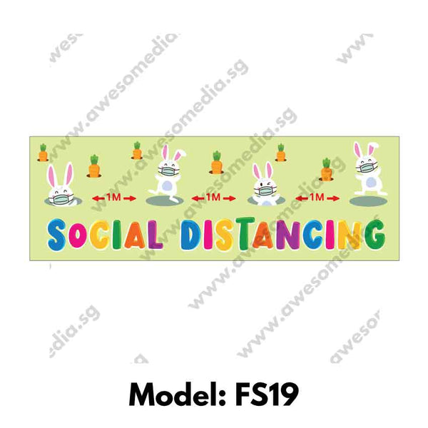 FS19 - Social Distancing Floor Sticker [SG Ready Stock] - Awesomedia Pte Ltd