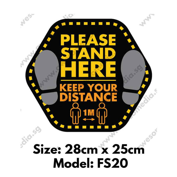 FS20 - Social Distancing Floor Sticker [SG Ready Stock] - Awesomedia Pte Ltd