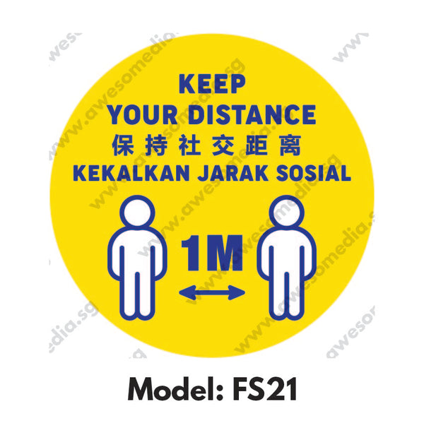 FS21 - Social Distancing Floor Sticker [SG Ready Stock] - Awesomedia Pte Ltd
