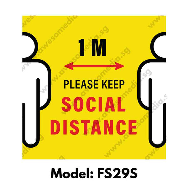 FS29S - Social Distancing Floor Sticker [SG Ready Stock] - Awesomedia Pte Ltd
