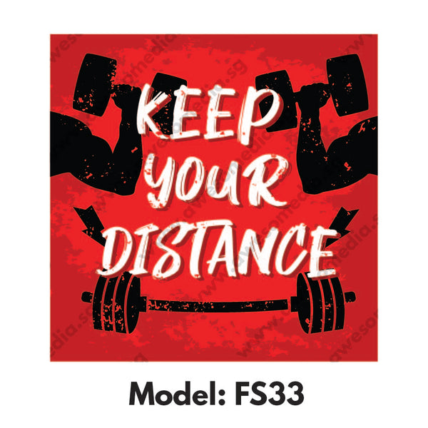 FS33 - Gym Room Social Distancing Floor Sticker [SG Ready Stock] - Awesomedia Pte Ltd