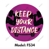 FS34 - Gym Room  Social Distancing Floor Sticker [SG Ready Stock] - Awesomedia Pte Ltd