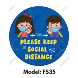 FS35 - Social Distancing Floor Sticker [SG Ready Stock] - Awesomedia Pte Ltd