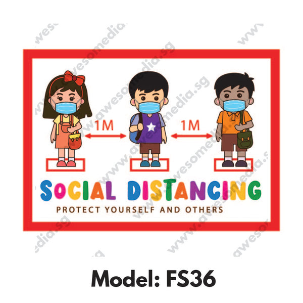 FS36 - Preschool Social Distancing Floor Sticker [SG Ready Stock] - Awesomedia Pte Ltd
