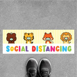 FS18 - Social Distancing Floor Sticker [SG Ready Stock] - Awesomedia Pte Ltd