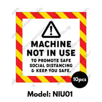 NIU01 - Machine Not In Use Sticker - Awesomedia Pte Ltd
