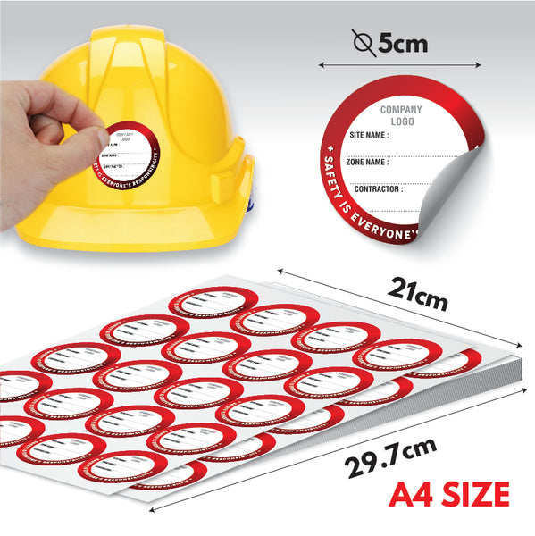 ZL01 - Zone Label for Construction Helmet - Awesomedia Pte Ltd