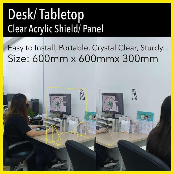Acrylic Shield (Ready In 2 Days) - Awesomedia Pte Ltd
