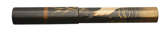 Danitrio Japanese Crested Ibis Maki-E on Sho-Hakkaku Fountain Pen Closed