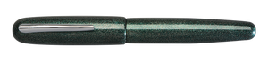 Danitrio Nashiji-nuri Blue Green Takumi Fountain Pen Capped
