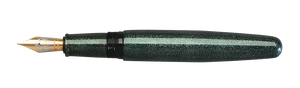 Danitrio Nashiji-nuri Blue Green Takumi Fountain Pen uncapped