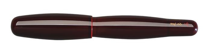 Danitrio Tame-nuri in Red on Hyotan Fountain Pen Capped