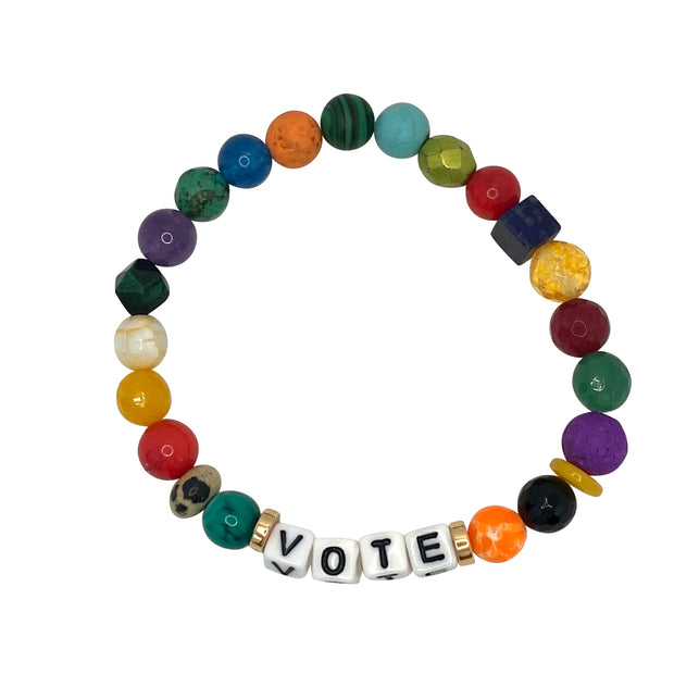 Libertas & Justicia Vibrant Colorful VOTE Cord