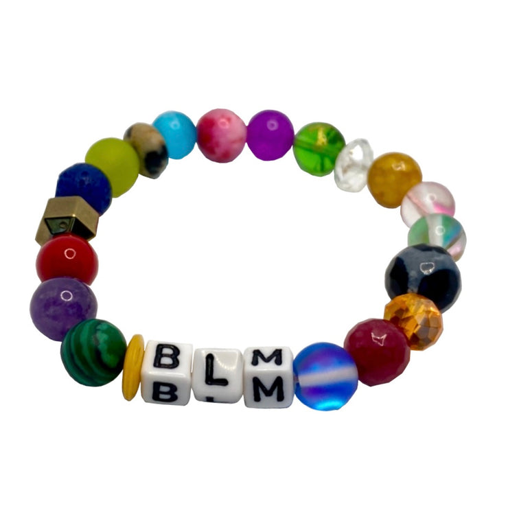 Black Lives Matter Vibrant Gemstone BLM Cord (without gold accents)