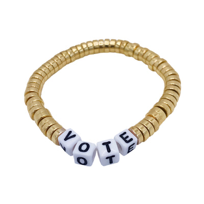 Libertas & Justicia Gold/White VOTE Cord