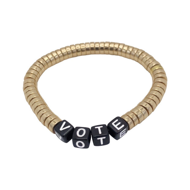 Libertas & Justicia Gold/Black VOTE Cord