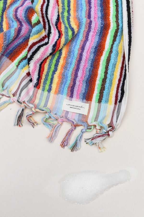 PomPom and Stripe Turkish Towels