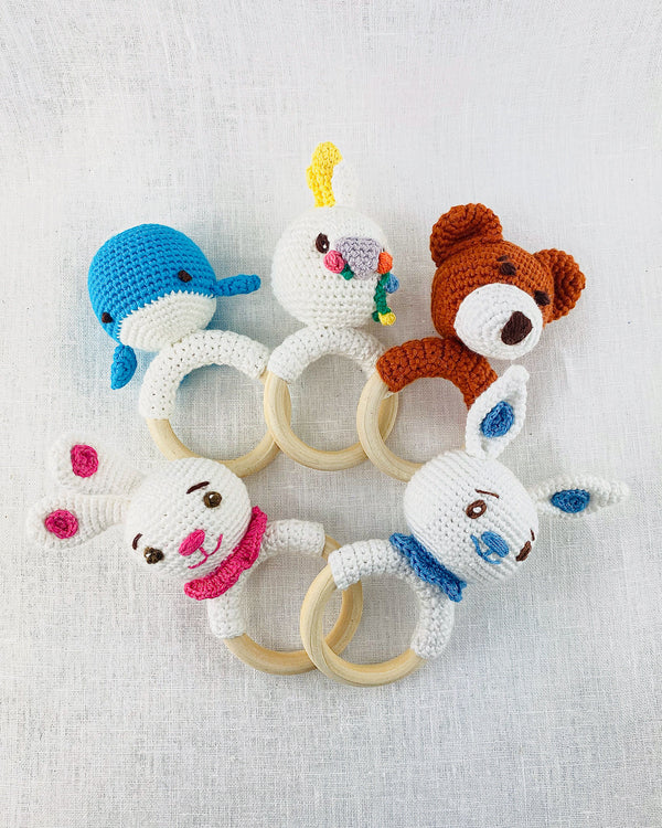 Hand Crocheted Baby Rattles