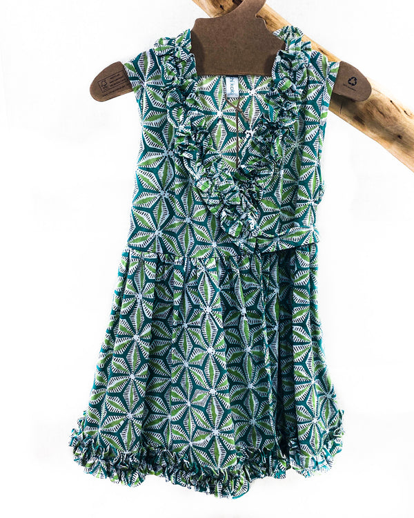 Kids Ruffle Wrap Dress