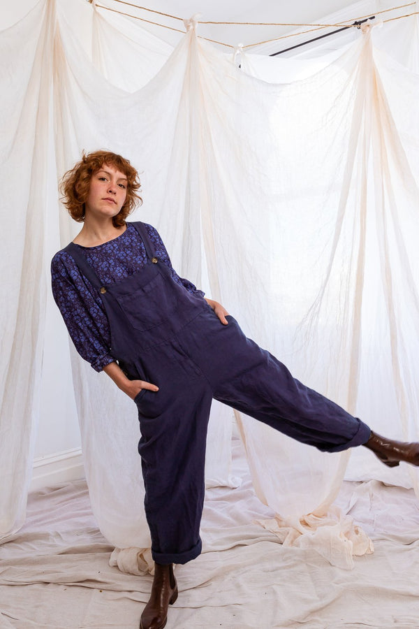 Indigo Land Girl Overalls