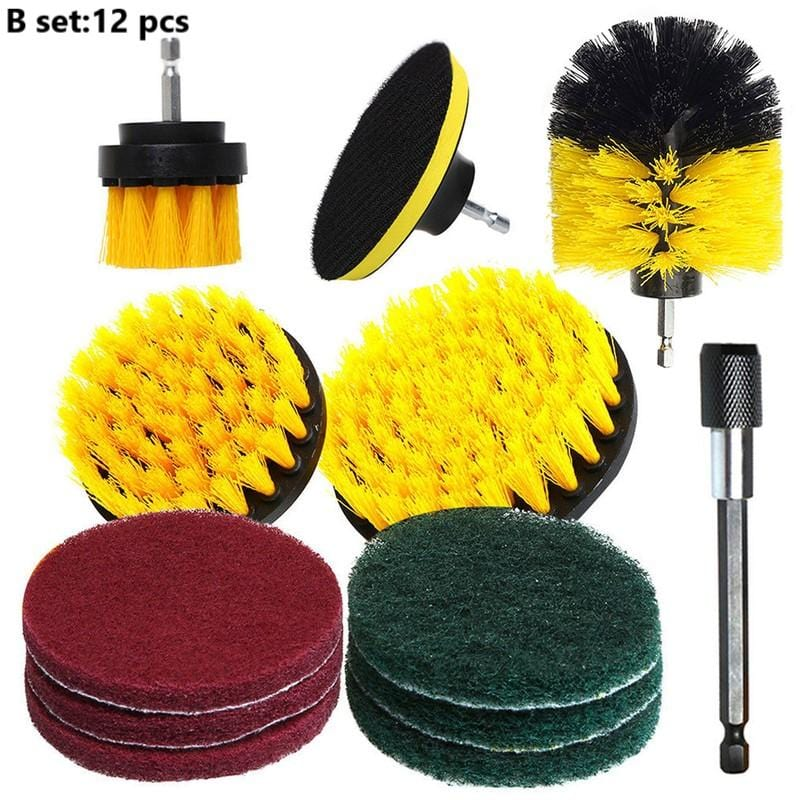 Multi-function Electric Drill Cleaning Brush Kit