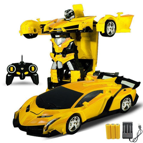 Gesture Sensing Remote Control Robot One Button Transformation Car Toy
