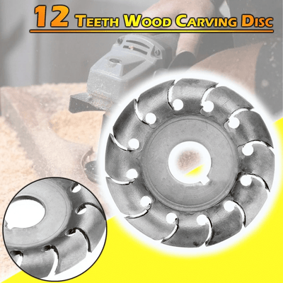 12 Teeth Power Wood Carving Disc Woodworking Tool
