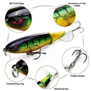 Floating Rotating Tail Lures Hard Bait(2pcs)
