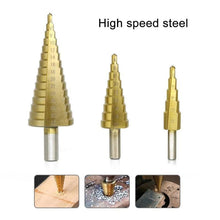 Load image into Gallery viewer, Titanium Step Drill (3 pieces)