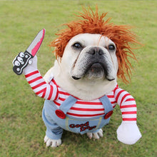 Load image into Gallery viewer, Halloween Deadly Doll Dog Costume
