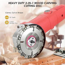 Load image into Gallery viewer, Heavy Duty 2-in-1 Wood Carving Cutting Disc