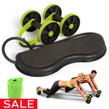 Load image into Gallery viewer, Fitness Equipments - Wheels Roller Stretch Elastic Abdominal Resistance Pull Rope