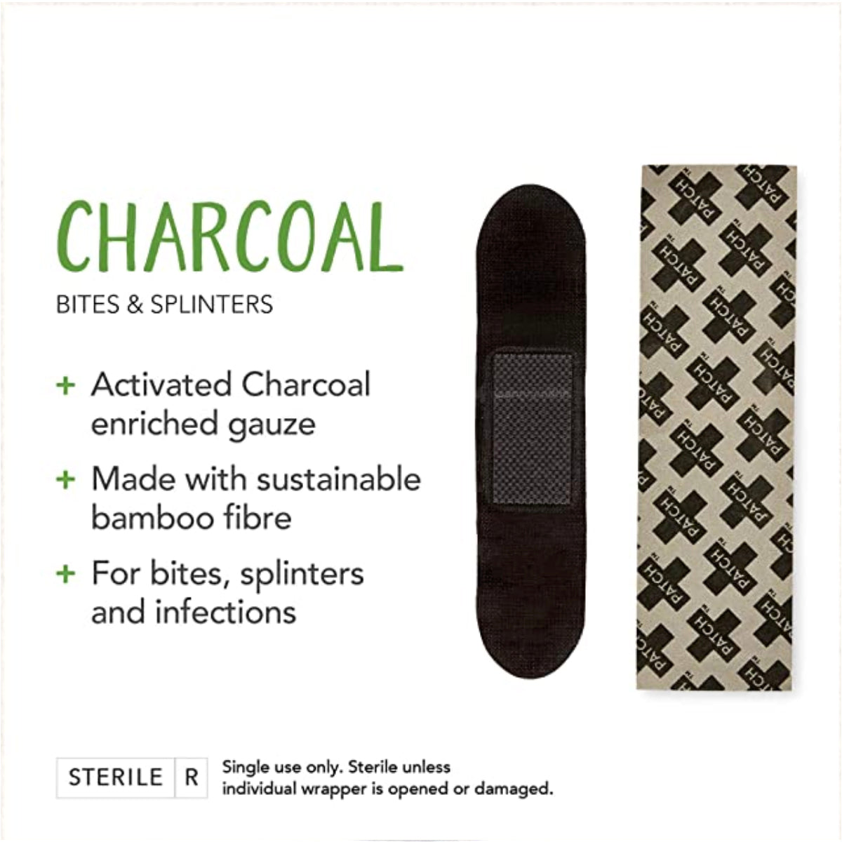 Adhesive Strips, Charcoal | Patch