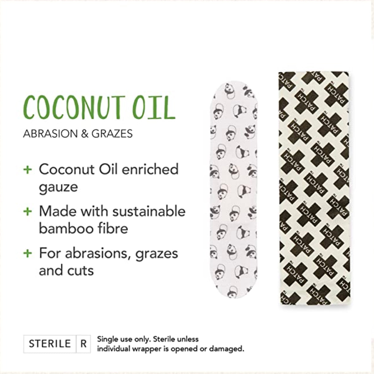 Kids Adhesive Strips, Coconut Oil | Patch