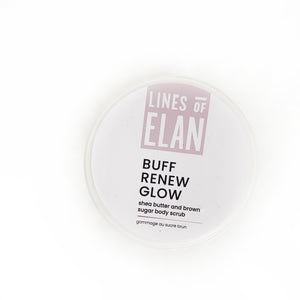 Sugar Scrub, BUFF RENEW GLOW by Lines of Elan