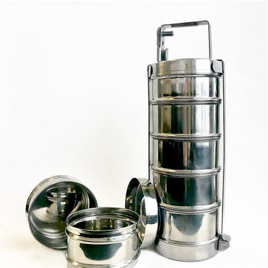 5 Tier Stainless Steel Tiffin Carrier