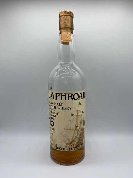1 x 20ml sample of Laphroaig 1969 Sestante Import sailing ships label 16 Years Old, 53.2%
