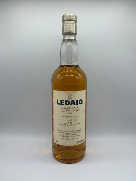 Ledaig 15 Years Old OB blue letters, 43%
